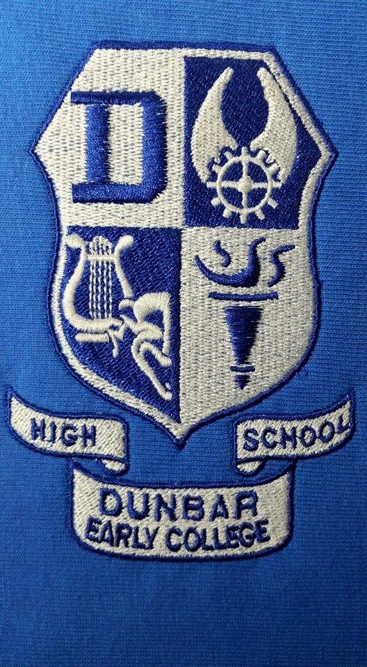 crest, dunbar high school, banners,